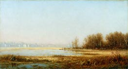 Sanford Robinson Gifford | Marshes of the Hudson | Giclée Canvas Print