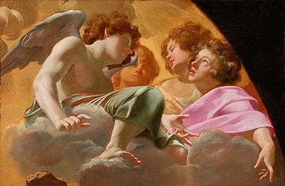 Model for Altarpiece in St. Peter's, 1625 | Simon Vouet | Painting Reproduction