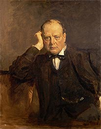 Sir James Guthrie | Sir Winston Churchill, Statesman, c.1918/30 | Giclée Canvas Print