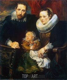 van Dyck | Family Portrait (Jan Wildens Family), c.1619 | Giclée Canvas Print