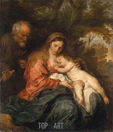 van Dyck | Rest on the Flight into Egypt, c.1627/32 | Giclée Canvas Print