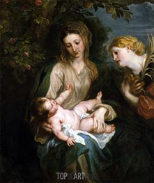 van Dyck | Virgin and Child with Saint Catherine of Alexandria | Giclée Canvas Print