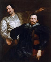 van Dyck | Portraits of the Painters Lucas and Cornelis de Wael, c.1627 | Giclée Canvas Print