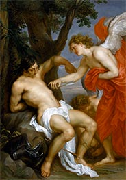 van Dyck | Saint Sebastian and the Angel, c.1628/32 | Giclée Canvas Print