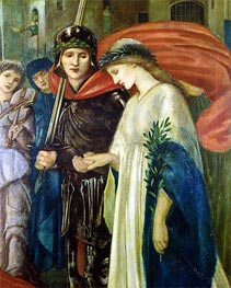Burne-Jones | St. George and the Dragon: The Return (Detail) | Giclée Paper Print