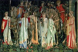 Burne-Jones | The Arming and Departure of the Knights | Giclée Canvas Print