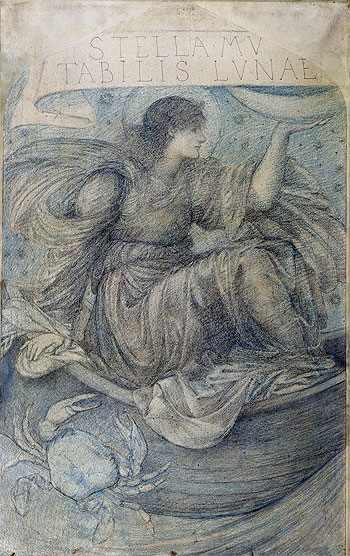 The Moon, Undated | Burne-Jones | Painting Reproduction