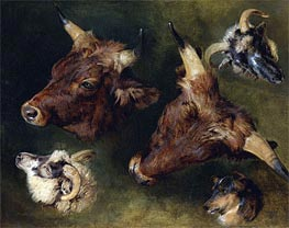 Landseer | Studies of Cattle and Sheep | Giclée Paper Print