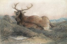 Landseer | A Stag at Tarbet | Giclée Canvas Print