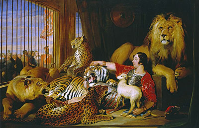 Isaac van Amburgh and his Animals, 1839 | Landseer | Giclée Canvas Print