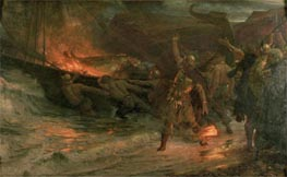 Frank Dicksee | The Funeral of a Viking | Giclée Canvas Print