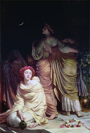 'Too late! Too late! Ye cannot enter now!', The Foolish Virgins, 1883 | Frank Dicksee | Giclée Canvas Print