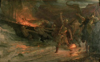 The Funeral of a Viking, 1893   Frank Dicksee   Giclée Canvas Print
