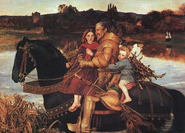 Millais | A Dream of the Past - Sir Isumbras at the Ford, 1857 | Giclée Canvas Print
