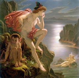 Joseph Noel Paton | Oberon and the Mermaid | Giclée Canvas Print