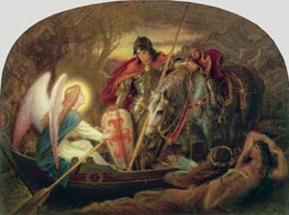 Joseph Noel Paton | How an Angel Rowed Sir Galahad Across Dern Mere | Giclée Canvas Print