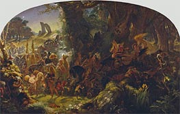 Joseph Noel Paton | The Fairy Raid: Carrying off a Changeling - Midsummer Eve | Giclée Paper Print
