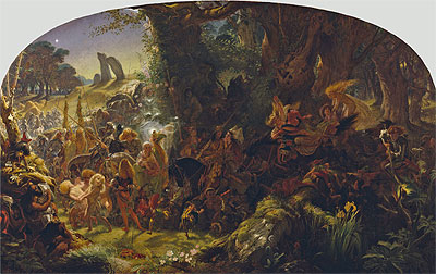 The Fairy Raid: Carrying off a Changeling - Midsummer Eve, 1867 | Joseph Noel Paton | Painting Reproduction