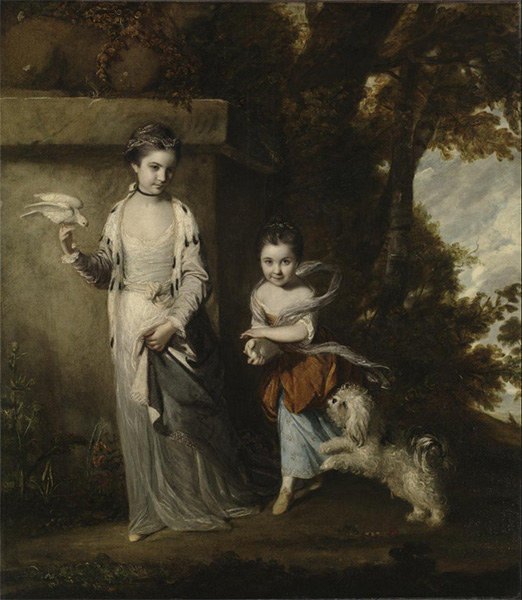 Reynolds | Portrait of the Ladies Amabel and Mary Jemima Yorke, c.1761 | Giclée Canvas Print