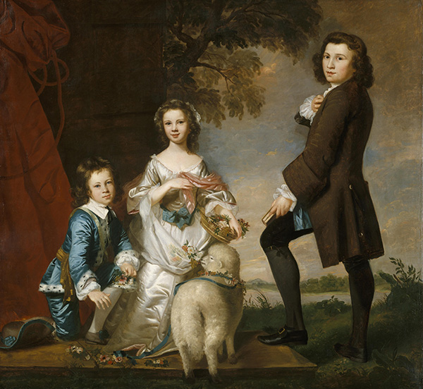 Thomas and Martha Neate with His Tutor, Thomas Needham, 1748 | Reynolds | Giclée Canvas Print