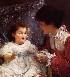 Alma-Tadema | Mrs George Lewis and Her Daughter Elizabeth, 1899 | Giclée Canvas Print