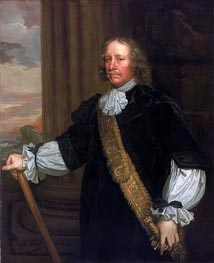 Peter Lely | Flagmen of Lowestoft: Vice-Admiral Sir Joseph Jordan, 1666 | Giclée Canvas Print