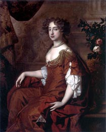 Peter Lely   Portrait of Queen Mary II, 1677   Giclée Canvas Print
