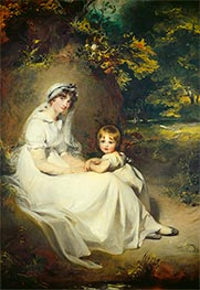 Thomas Lawrence | Lady Mary Templetown and Her Eldest Son | Giclée Canvas Print