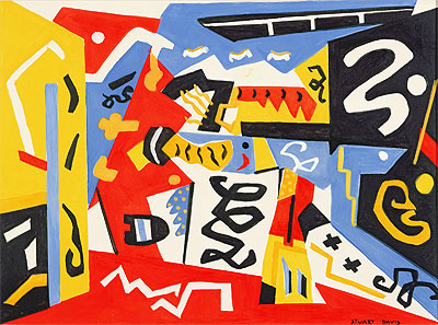 Composition, Undated | Stuart Davis | Giclée Canvas Print