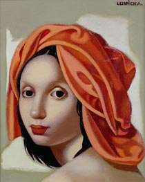 Lempicka | The Orange Turban II | Giclée Canvas Print