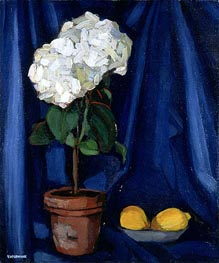 Lempicka | Bouquet of Hortensias and Lemon | Giclée Canvas Print
