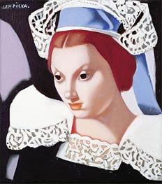 Lempicka | Young Breton Girl | Giclée Canvas Print