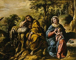 Tanzio da Varallo | The Rest on the Flight into Egypt, c.1625/30 | Giclée Canvas Print