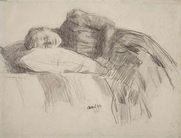 Rysselberghe | Young Girl Reclining | Giclée Canvas Print