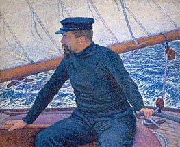 Rysselberghe | Paul Signac Aboard His Sailboat | Giclée Canvas Print