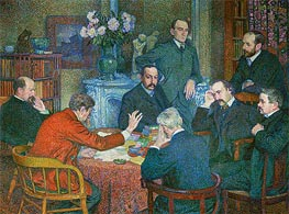 Rysselberghe | The Lecture by Emile Verhaeren (Reading in Saint-Cloud) | Giclée Canvas Print