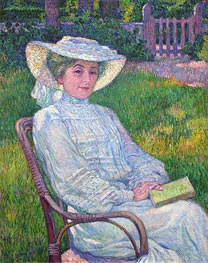Rysselberghe | Lady in White (Portrait of Mrs. Theo Van Rysselberghe), 1926 | Giclée Canvas Print