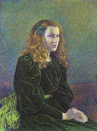 Rysselberghe | Young Woman in Green Dress (Germaine Marechal), 1893 | Giclée Canvas Print