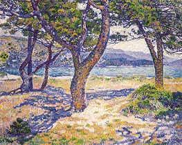 Rysselberghe | The Mediterranean at Le Lavandou, 1904 | Giclée Canvas Print