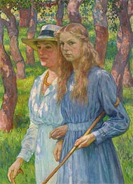 Rysselberghe | Portrait of Madame Schlumberger and Her Daughter, 1918 | Giclée Canvas Print