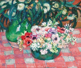 Rysselberghe | Anemones and Eucalyptus, undated | Giclée Canvas Print