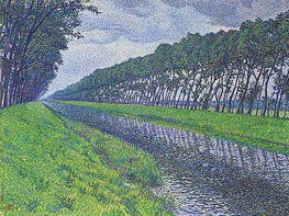 Rysselberghe | Canal in Flanders | Giclée Canvas Print