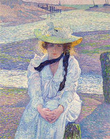 Young Woman at the Banks, 1901 | Rysselberghe | Painting Reproduction