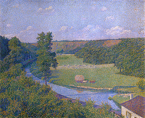 The Valley of the Sambre, b.1926 | Rysselberghe | Giclée Canvas Print