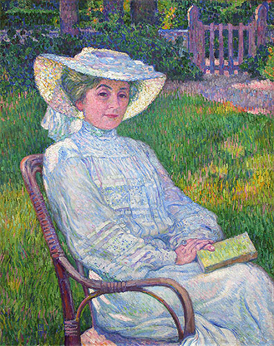 Lady in White (Portrait of Mrs. Theo Van Rysselberghe), 1926 | Rysselberghe | Giclée Canvas Print