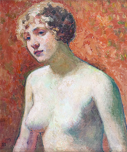 Bust of a Young Girl, 1914 | Rysselberghe | Giclée Canvas Print
