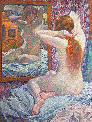 Nude Girl in Front of the Mirror, 1900 | Rysselberghe | Giclée Canvas Print