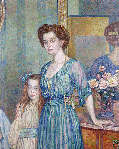 Mme Bodenhausen with a Child, 1910 | Rysselberghe | Painting Reproduction