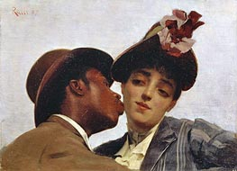 Theodore Jacques Ralli | The Kiss, 1887 | Giclée Canvas Print