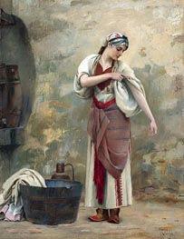 Theodore Jacques Ralli | The Laundress, undated | Giclée Canvas Print